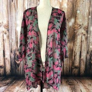LuLaRoe Lindsay Kimono Cardigan Camouflage